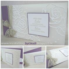 """Heute ohne viele Worte ;-) Eine Hochzeitskarte mit den schönen Rosenframelits auf Pergamentpapier. Einmal mit diesem Set angefangen zu """"spielen"""" ist es zu meinem Lieblingsset geworden. Ihr werdet in n"""