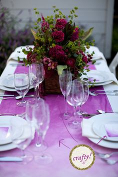 How To Make A Slightly Fancier, But Still Totally Easy Tablescape A Practical Wedding: Blog Ideas for the Modern Wedding, Plus Marriage