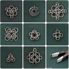 Chain maille pieces