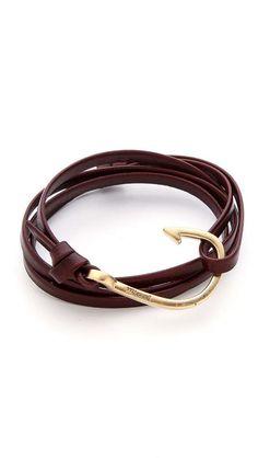 Man Jewelry | Miansai Hooked Leather Wrap Bracelet.... maybe for Billy??