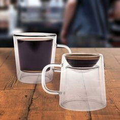 Coffee and espresso in one cup. - http://noveltystreet.com/item/11492/