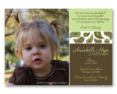 Adoption Announcement Born from my Heart a by FourHarpDesigns, $18.00