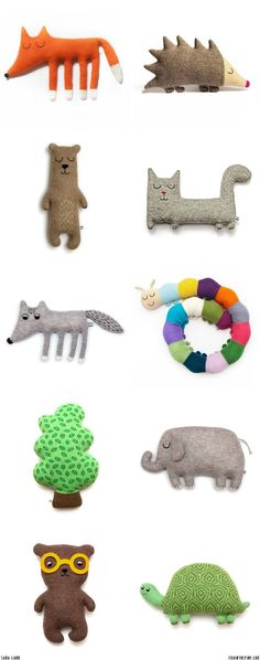 Sara Carr plush toys // FOXINTHEPINE.COM - here is where you can find that Perfect Gift for Friends and Family Members