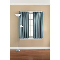 This could make the windows look bigger. Master upstairs Mainstays Solid Room Darkening Curtain Panel