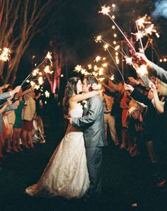 Sparklers and flying lanterns for our wedding! Exit the wedding or dance in a blaze of sparklers! Wedding Exits, Wedding Guest List, Dream Wedding, Event Planning Tips, Wedding Planning Checklist, Southern Weddings, Wedding Matches, First Dance, Sparklers
