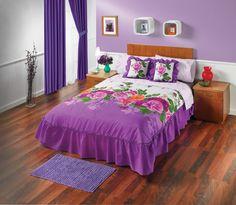 Los colores y diseños floridos de la Edrecolcha Rosal son perfectos para vestir tu alcoba de una manera lujosa y especial.