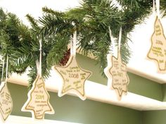Every Year a Memory Christmas Ornaments. Make an ornament for each year with key events on it. Fun tradition!