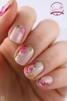 Nail art : Tendresse aquarelle
