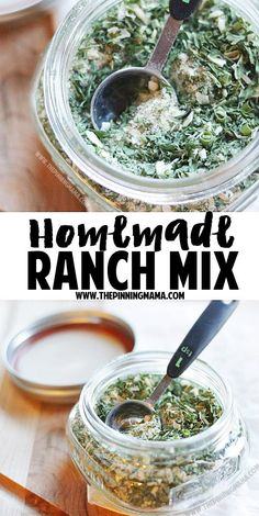 Homemade Ranch mix recipe - So good! I use it as a marinade, dip, seasoning and put it on anything and everything! Paleo + Whole30 compliant recipe