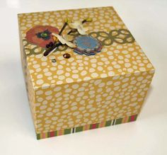 Archivers Blog - box made with Martha Stewart Scoring Board