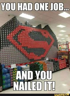 20 batman vs superman funny quotes is part of Batman vs superman funny - Love batman or super, you are surely gonna love these hilarious batman vs superman quotes & memes So read em and share them with your friends Rasengan Vs Chidori, You Had One Job, Batman Vs Superman, Funny Batman, Dc Memes, Geeks, You Nailed It, Dc Comics, Hilarious Pictures