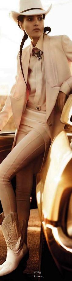Diamond Cowgirl ~ Hanaa Ben Abdesslem by Giampaolo Sgura for Vogue