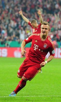 ~ Xherdan Shaqiri of Bayern Munchen against VfL Wolfsburg ~