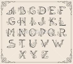 -Calligraphy Designs Letters