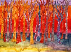 Large Abstract TREE Wall art mixed media collage by mimistudio,