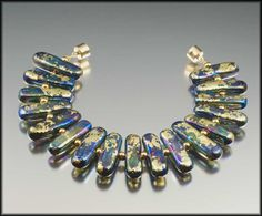 Bohemia - Bracelet with handmade lampwork beads