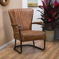 Peachy Safavieh Dale Leather Arm Chair Brown Mcr4710A Pdpeps Interior Chair Design Pdpepsorg