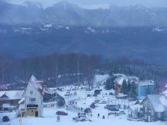 "Straja atop Mt. Straja, 9 km due ""up""from Lupeni, Romania"