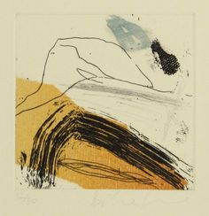 Danielle Creenaune, Lost Track III, woodcut, etching, chine colle, drypoint on 380 x 280 mm paper, ed 30, 2008.