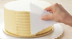 Use a plastic card or old credit card to comb your icing.  Or use a Ziploc bag to pipe the icing.