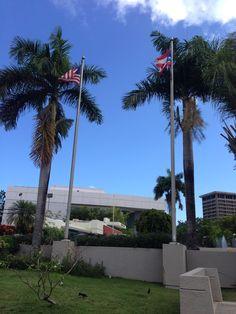 Bellas Artes de Santurce, 9:37 a.m. Las banderas estaban correctamente colocadas, según indica el acta protocolar de las banderas