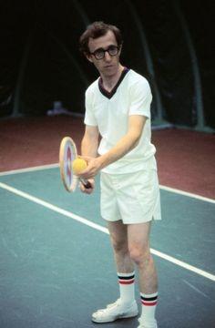 Woody Allen, directing his own serve,CUT, that's a wrap. lol Annie Hall had a tennis match didn't it?