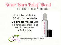 Razor Burn Relief- this stuff really works! doTERRA buy these oils at: www.mydoterra.com/cassandrahohmann