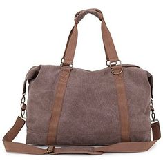93fb4e86eb7 Toupons Portable Men Women Casual Canvas Weekend Travel Duffel Bag Unique  Design Unique retro design help you catch people s eyes here and there.