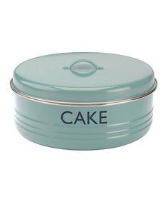 Loving this Blue 'Cake' Tin on #zulily! #zulilyfinds