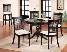 Bayberry Cherry Round Dining Room Group