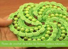 Tecnicas de crochet flores incribles