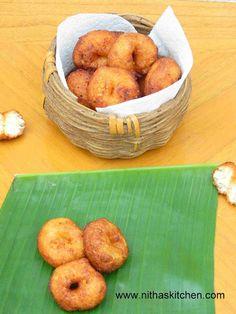 Sweet Methu Vada, South Indian Lentil Dounuts,