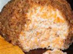 Buttermilk Ranch Cheeseball -- sour cream, ranch dressing mix, cream cheese, cheddar cheese, pecans