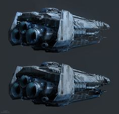 """SPARTH - Halo 4 """"Forward Unto Dawn"""" spaceship variations...."""