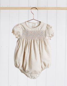 Neck & Neck Children's Fashion, Baby Romper, Urban Baby, Chic Baby Outfit, Trendy Baby Romper in Beige