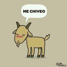 """Me chiveo"" significa que te apenas, te avergüenzas o te sonrojas por alguna situación."