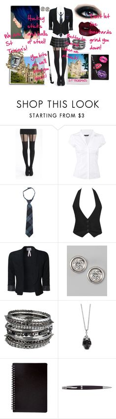"""""""Ruby Stark, St Trinian's Girl"""" by darkess93 ❤ liked on Polyvore featuring Dorothy Perkins, French Toast, Forever 21, Lipsy, Roberto Coin, Alexander McQueen, Polaroid and Asprey"""