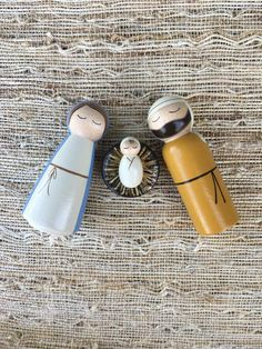 Excited to share this item from my shop: Nativity Peg Dolls-Holy Family, Large Nativity Peg Doll, Wood Peg Dolls, Nativity Crafts, Clothespin Dolls, Nativity Sets, Pinecone Crafts Kids, Pine Cone Crafts, Crafts For Kids, Doll Crafts