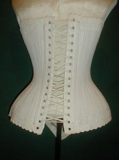 """back view - RARE 1860 1870 Cotton Corset Vermont Estate (Mosely family) 