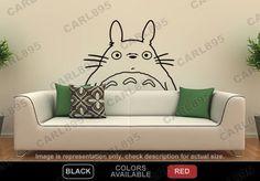 Ghibli Totoro Head Vinyl Wall Decor Decal.