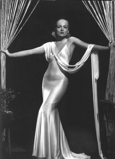 Carole Lombard in a second skin gown