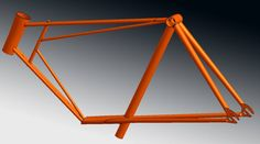 Bicycle aluminium frame CAD re-design from scan data