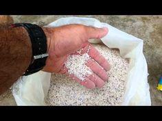 Passo a passo confecção de Pedras porosas para Aquários, Lagos e Decoração - video 1/3 - YouTube