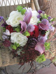 floralartvt.com #purpleflowers #bridalbouquet #VermontFlowers Wedding in Stowe at Topnotch Resort