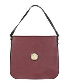 Versace 1969 abbigliamento sportivo srl milano italia - borsa a spalla - materiale: eco - pelle - un manico - chiusura c - Borsa a spalla donna  Rosso