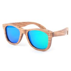 Zebrano wood sunglasses