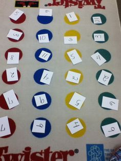 Multiplication Twister...so cute!