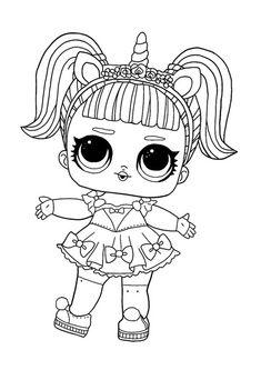 LOL Surprise Unicorn coloring page Summer Coloring Pages, Barbie Coloring Pages, Disney Princess Coloring Pages, Disney Princess Colors, Unicorn Coloring Pages, Cute Coloring Pages, Cartoon Coloring Pages, Coloring Books, Dinosaur Coloring