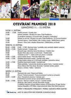 Lázeňskou sezónu v Luhačovicích odstartuje i Petra Janů  V Luhačovicích se bude ve dnech 11. až 13. května konat bohaté pásmo Otevírání pramenů 2018 spojené se zahájením letošní lázeňské sezóny. Třídenní pásmo zahájí v pátek 11. května v 10.00 pouliční jarmark u pošty a slavnosti vyvrcholí v neděli 13. května posvěcením pramenů a koncertem folklórních souborů. V pátek se představí divadlo Já to jsem z Českých Budějovic kolotočem pohádek a večer zakončí Petra Janů a skupina Amsterdam… Event Ticket, Relax, Amsterdam
