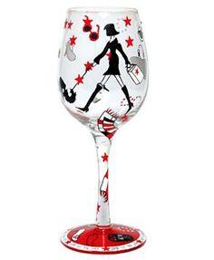 Shop til you drop Lolita wine glass - my motto :)